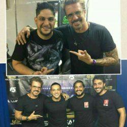 nos bastidores, Tuca encontrou com o cantor Wesley Safadão e com a dupla Jorge e Matheus