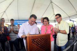 Governador Rui Costa autoriza a abertura de licitação para pavimentação da BA-400 no trecho Cardeal da Silva / BA-099. Fotoa:Camila Souza/GOVBA