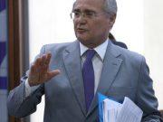 Brasília - Presidente do Senado, Renan Calheiros durante coletiva sobre a operação da Polícia Federal no Senado na última sexta-feira (Fabio Rodrigues Pozzebom/Agência Brasil)