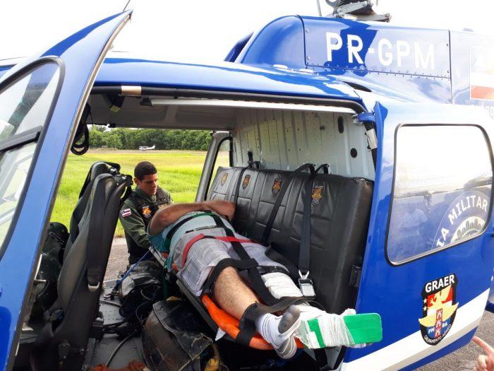 ce98e44d53 Equipe do Grupamento Aéreo (Graer) da Polícia Militar socorreu